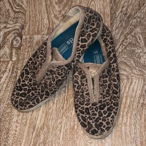 Keds leopard print shoes size 7 tan brown